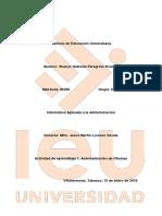 Act. 1 Informatica Aplicada Ala Administración