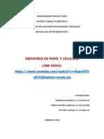 PLAN DE PRODUCCIÒN - INDUSTRIA DE PAPEL Y CELULOSA