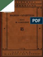 CanabIoannis Canabutzae Magistri Ad Principem