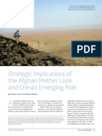 20140101 JFQ 72 - Strategic Implications of the Afghan Mother Lode and China's Emerging Role