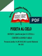 PORTADA CERTIFICACIONES