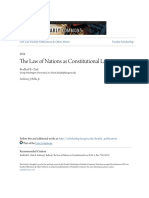 The Law of Nations as Constitutional Law