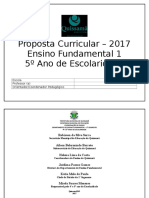 Proposta Curricular  5º ano.doc