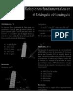 Triángulo Oblicuangulos, Ley de Senos, Cosenos y Tangentes