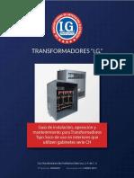 Manual transformadores Tipo Seco