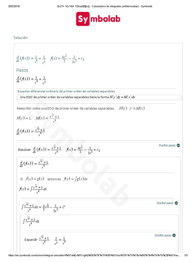 Ecuaciones Diferenciales Calculadora