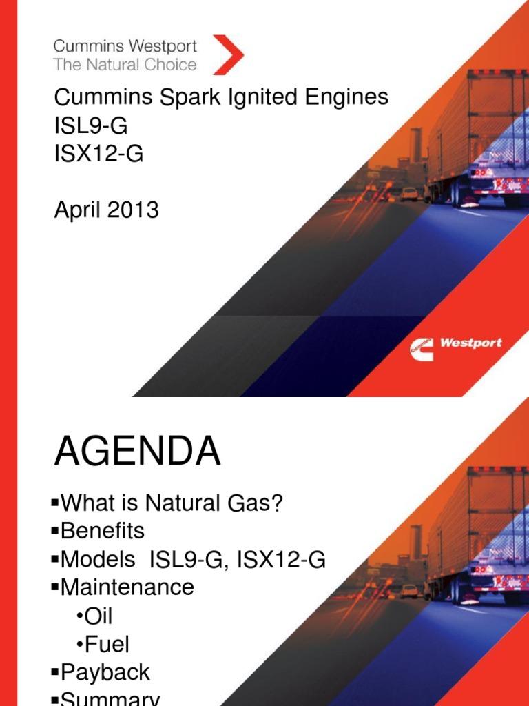Cummins Spark Ignited Engines ISL9-G | Combustion | Diesel