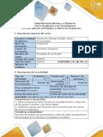 Guía de Actividades y Rúbrica de Evaluación – Paso 1 – Reconocer La Intencionalidad Del Curso y Los Saberes Previos