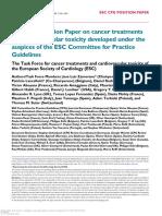 2016 ESC Cancer and CV Toxicity