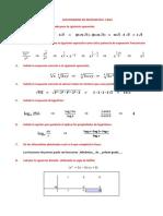 Cuestionario de Matematica 1bgu