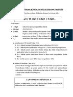 Aturan Pemberian Nomor Identitas Sediaan Pasien Tb