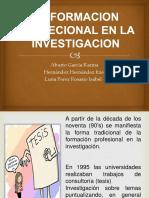 La Formacion Profecional en La Investigacion