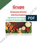 Ingredientes Para Montar Seu Cardápio De Reeducação Alimentar =)=)