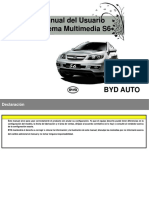 Manual Radio byd S6 Touch Español