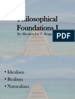 Philosophical Foundations I