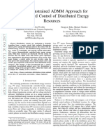 Chance-Constrained ADMM Approach for Decentralized Control of Distributed Energy Resources