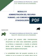 Comunicaciones, RH y Staholders, SS 2016. 3era Sesión.ppt