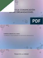 Unidad II La Comunicación en Las Organizaciones