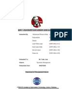 36494124 KFC Facility Location and Layout Operation Management Project