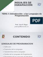 Tema1 - Introd. a Los Lenguajes de Programacion