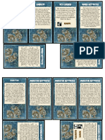 Event Card Sheets
