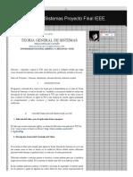 Teoría General de Sistemas Proyecto Final IEEE