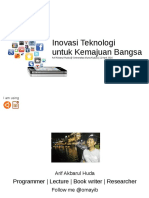 Inovasi Teknologi Untuk Kemajuan Bangsa
