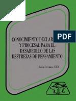 Estremera, Ruben - Conocimiento Declarativo y Procesal Para El Desarrollo de Las Destrezas