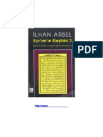 İlhan Arsel-Kuran eleştirisi 2