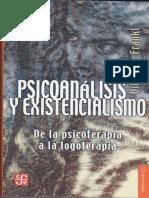 Frankl Viktor Psicoanalisis y Existencialismo PDF