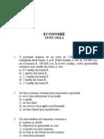 Teste de admitere economie master