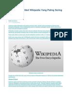 15 Halaman Artikel Wikipedia Yang Paling Sering Di Edit
