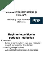Curs Regimuri Politice in Perioada Interbelica
