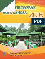 Statistik Daerah Kota Langsa 2016