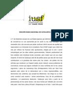 Discurs de la Diada Nacional de Catalunya (Independents Units per Sant Fost, 2009)