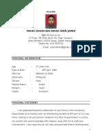 Idham Resume