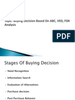 Buying Decision& ABC, VED, FSN Analysis