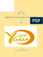 Final Report Baalbalika Ka Lagi YUWA