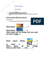 Earth Song by Michael Jackson(Listening)