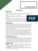 Arthritis Diet Sheet- December 2004 New