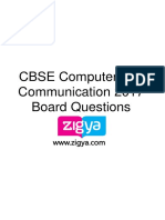 CBSE Computer and Communication Technology 2017 Board Questions