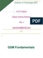 Digital Cellular Network - Lecture4