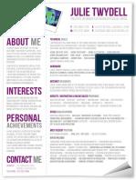 Julie Twydell's CV From Creativepool