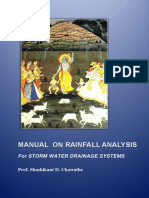 Manual on Rainfall Analysis for Storm Water Drainage Systems