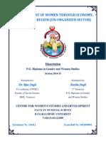 EMPOWERMENT OF WOMEN THROUGH ECONOMY IN VARANASI REGION (THE UNORGANIZED SECTOR).docx