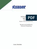 Dotzauer - Método Para Violoncelo Solo Volume 1