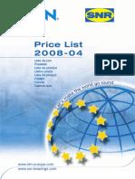 Ntn-snr Price List 2008-04