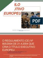 O Título Executivo Europeu - CEJ 2016-Final