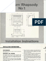 Rayburn Rhapsody No. 1 - Installation Instructions - Engl & Afrikaans