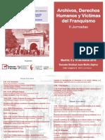 Archivos, Derechos Humanos y Víctimas del Franquismo. II Jornadas
